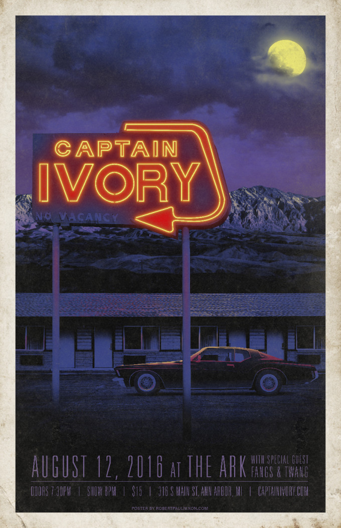 Show poster for Captain Ivory at The Ark